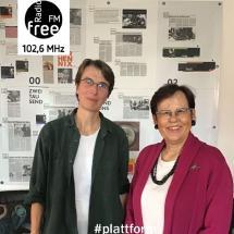 Ein Bild mit Katrin Voß-Lubert und Ilse Rüggenmann bei der Plattform